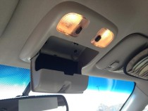 Panicked sunglasses holder