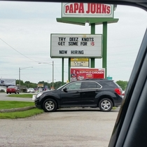 Papa Johns Keeping it Classy