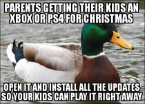 Parents buying their kid a console for Christmas