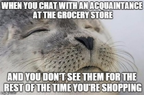 Passing Them in the Aisles afterwords is Always Awkward