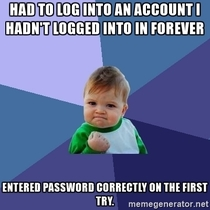Password is set to be remembered and had to log into a new device