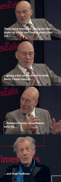 Patrick Stewart and Ian McKellan recalling their time on the set of X-Men