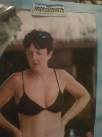 Paul McCartney at the beach in a bikini