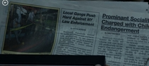 Paused to read the newspaper shown in Daredevil season  to see what was written Thought I was having a stroke for a second