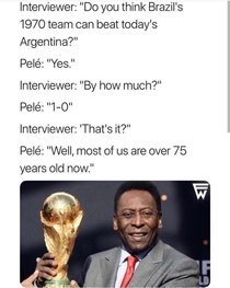 Pele throwing mad shade