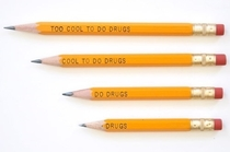 Pencils from a campaign against drugs