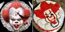 Pennywise cake from Stephen Kings IT Found on Facebook