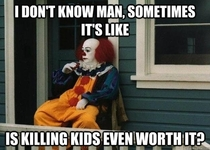 Pennywise in deep thought