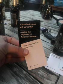 People still doing cards against humanity