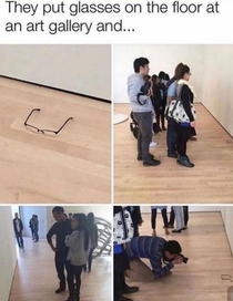 People will literally take pictures of anything at an art gallery