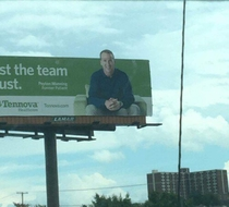Peyton Mannings forehead is so big it couldnt fit the billboard
