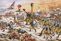 Photo of the Continental Army taking over the airport th century colorized OC