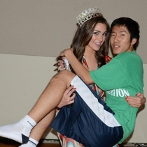 Pic #1 - A girl from my school won Miss Universe My friend was lucky enough to get a picture with her