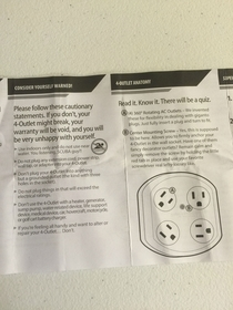 Pic #1 - An outlet adapter manual is the last place I expected to find humor like this