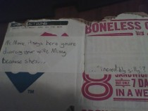 Pic #1 - Asked the Dominos guy to write a joke on the box too  order  tip