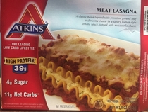 Pic #1 - Atkins Meat Lasagna Expectation  Reality