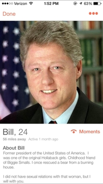 Pic #1 - Bill Clinton on Tinder
