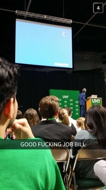 Pic #1 - Bill Nye lectured at my college and broke the projector