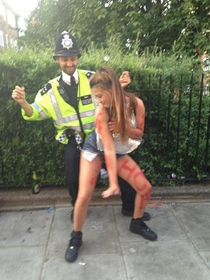 Pic #1 - British police at Notting Hill Carnival