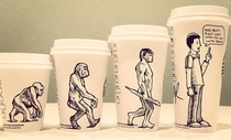 Pic #1 - Cartoonist draws on his coffee cup every morning