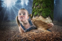 Pic #1 - Creative Father Makes Crazy Photo Manipulations With His Three Daughters