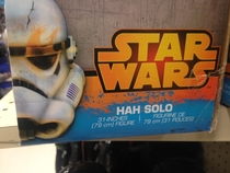 Pic #1 - Every one of these Han Solo figures in the store is like this