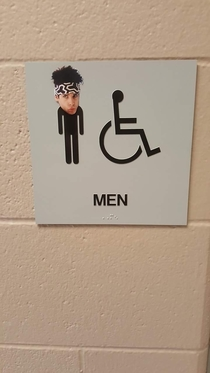 Pic #1 - Every week my friend likes to have some fun with the mens restroom sign at work