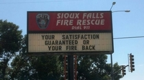Pic #1 - Firefighters with a sense of humour