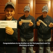 Pic #1 - First paycheck