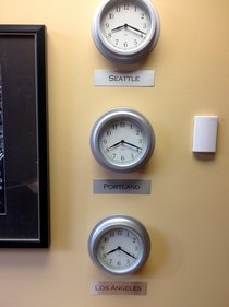 Pic #1 - Friend tells me he needs multiple time zone clocks to run his international business