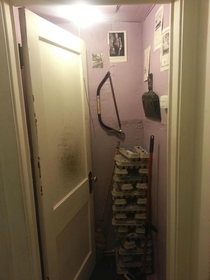 Pic #1 - Friends pranked me by converting my bedroom to a utility closet