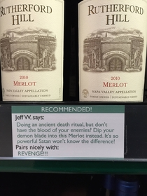 Pic #1 - I added some wine recommendations to the liquor store by my house