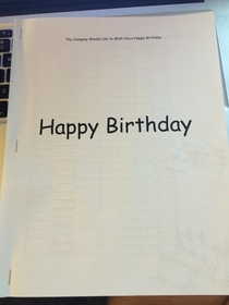Pic #1 - I just received this birthday card