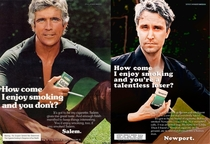 Pic #1 - I remade some old cigarette ads posed as the model and rewrote the copy