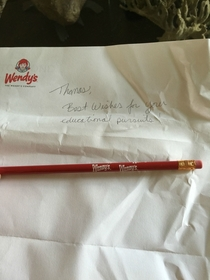 Pic #1 - I sent Wendys an email asking for coupons or free food because I am a broke college student This is what they sent back