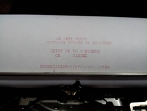 Pic #1 - I was going to purchase this typewriter at the antiques market until I noticed it was not up to date