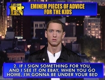 Pic #1 - If Eminem retires from music I think he has a shot at comedy