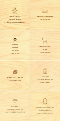 Pic #1 - Minimalist Mitch Hedberg Wood Etchings
