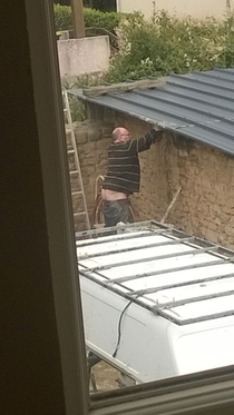 Pic #1 - My brothers landlord put plumbers crack on another level