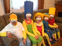 Pic #1 - My  children as THE SIMPSONS