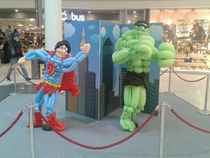 Pic #1 - My local shopping mall had a display of figures made out of balloons