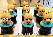 Pic #1 - My Mom gave the Despicable Me Minion cupcakes a shot