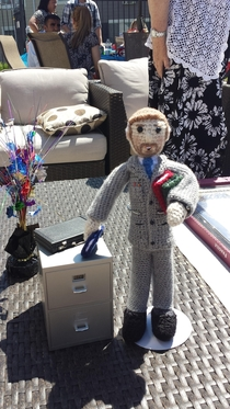 Pic #1 - My mom made a crochet version of me for graduating law school