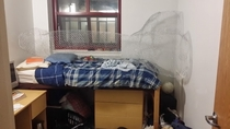 Pic #1 - My suitemate went away for spring break so we built a giant penis in his room