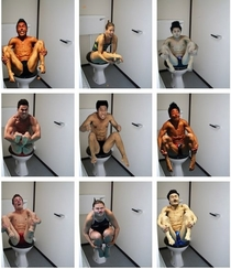 Pic #1 - Olympic Divers on the Toilet