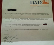 Pic #1 - Our  yo asked Dad for an advance on his allowance for a toy This is the response he got