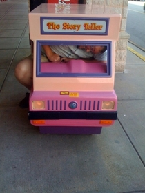 Pic #1 - Over the past few years I have been cramming myself into small childrens rides at the mall