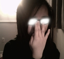 Pic #1 - People doing the anime glasses thing