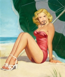Pic #1 - Robert Downey Jr Portrayed as Pinup Girls