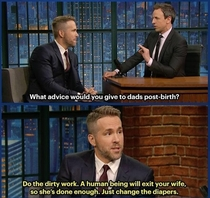 Pic #1 - Ryan Reynolds funny and endearing take on child birth